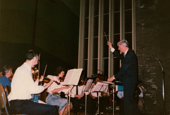 Met kamerorkest Concertino in Geldrop in 1989